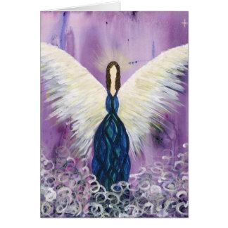 Purple Guardian Angel Card
