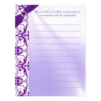 Purple Guestbook Paper Customized Letterhead