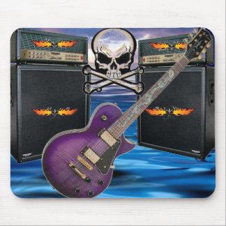 Purple Guitar Flaming Skulls & Amp Ocean Mousepad
