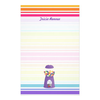 Purple Gumball Machine Stationery