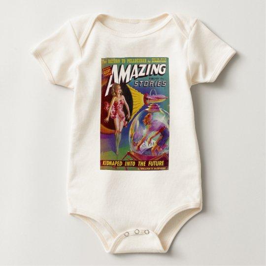 Purple Guy in a Globe Baby Bodysuit