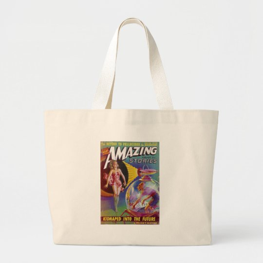 Purple Guy in a Globe Large Tote Bag