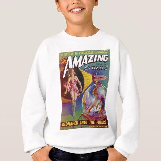 Purple Guy in a Globe Sweatshirt