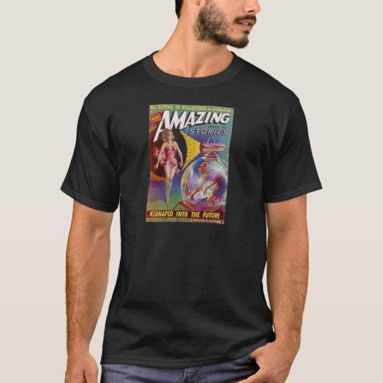 Purple Guy in a Globe T-Shirt