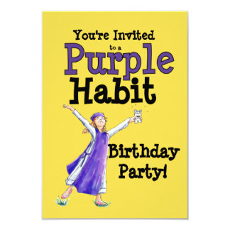Purple Habit Party Invitation