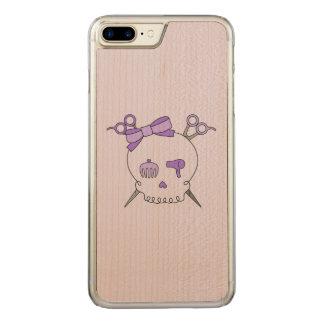 Purple Hair Accessory Skull -Scissor Crossbones #2 Carved iPhone 7 Plus Case