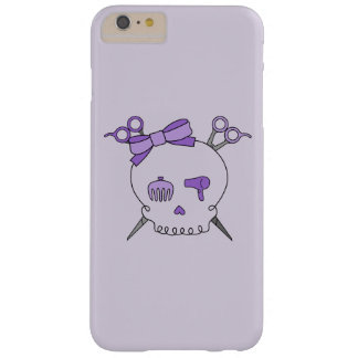 Purple Hair Accessory Skull -Scissor Crossbones #2 Barely There iPhone 6 Plus Case