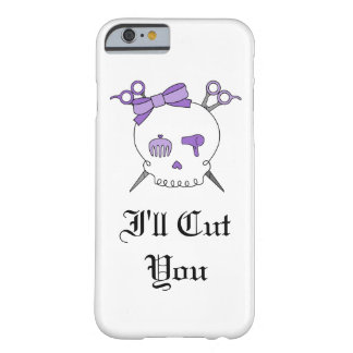 Purple Hair Accessory Skull -Scissor Crossbones #5 Barely There iPhone 6 Case