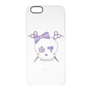 Purple Hair Accessory Skull -Scissor Crossbones Clear iPhone 6/6S Case