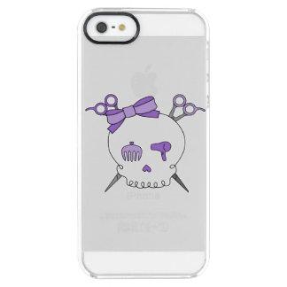 Purple Hair Accessory Skull -Scissor Crossbones Clear iPhone SE/5/5s Case