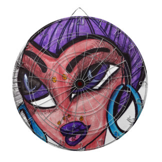 Purple Hair Dartboard