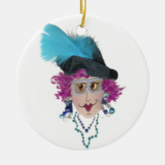 Purple Hair Funny Lady Ornament