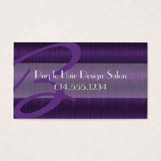 Purple Hair Salon Stylist Beautician Business Card
