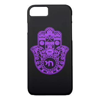 Purple Hamsa Symbol iPhone 7 Case