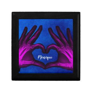 Purple Hand Xray Heart Gift Box