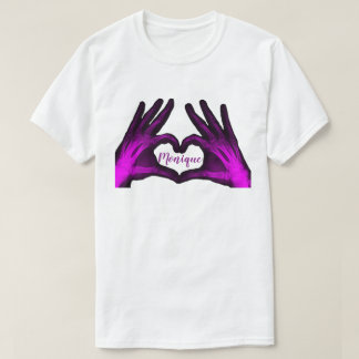 Purple Hand Xray Heart T-Shirt