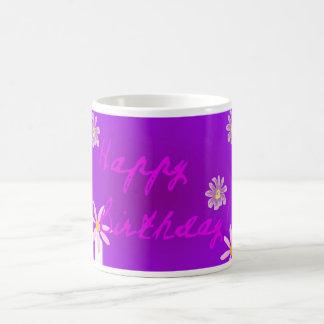 Purple Happy Birthday Mug
