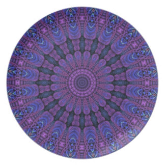 Purple Harmony Design Party Plate