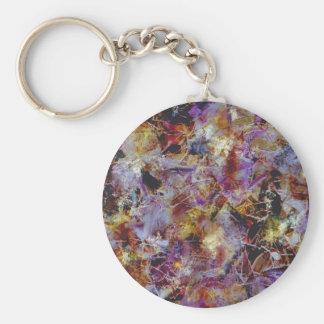 Purple Haze Abstract Basic Round Button Keychain