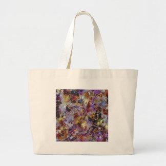 Purple Haze Abstract Jumbo Tote Bag