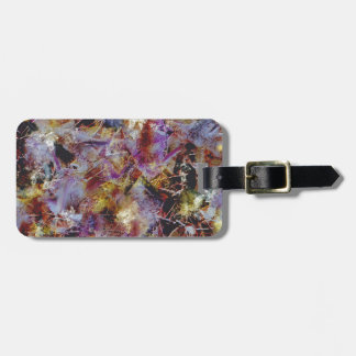 Purple Haze Abstract Tag For Bags