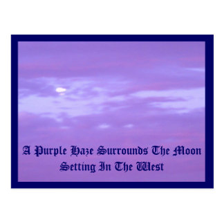 Purple Haze around the setting moon Postcard