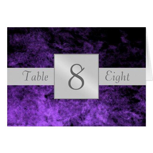 Purple Haze Artistic Table Number Folded Card