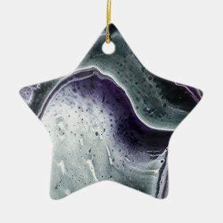 Purple Haze Ceramic Ornament