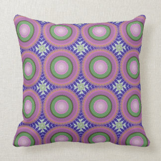 Purple Haze Circle Pattern Decorative Pillow