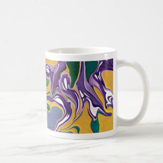 purple haze coffee cup has grape & gold color basic white mug