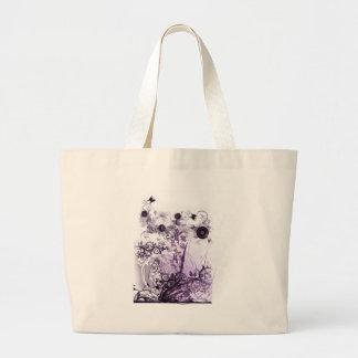Purple haze garden tote jumbo tote bag