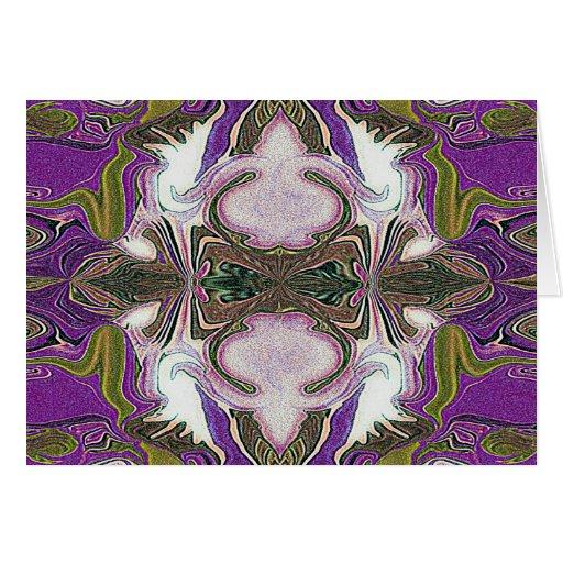 purple haze geometric card