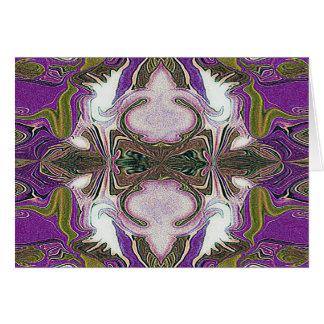 purple haze geometric greeting card