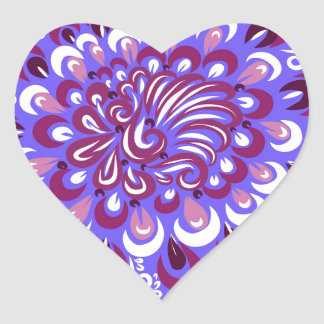 Purple haze heart sticker
