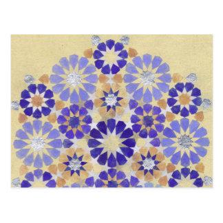 'Purple Haze' Islamic geometry postcard