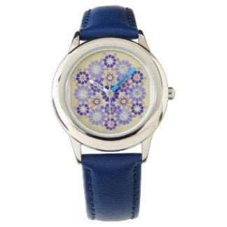'Purple Haze' Islamic geometry wristwatch