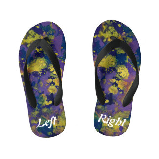 Purple Haze Left & Right Kid's Flip Flops