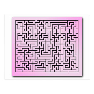 Purple  Haze Maze Postcard