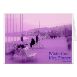 Purple Haze - Nice France Greeting Card