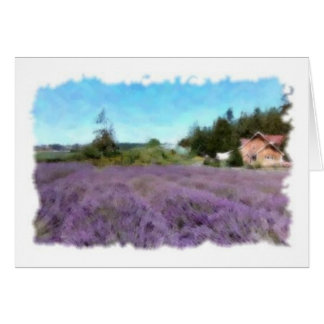 Purple Haze Note Card