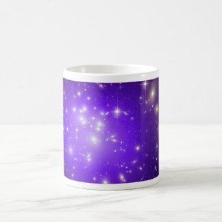 Purple haze of stars at night basic white mug