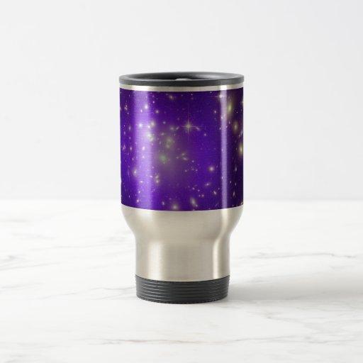 Purple haze of stars coffee mug