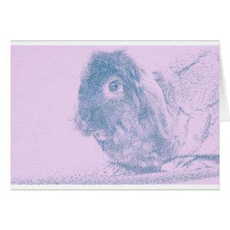 Purple haze rabbit greeting card