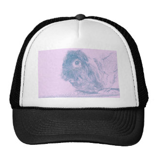 Purple haze rabbit trucker hat