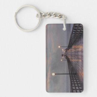 Purple Haze Single-Sided Rectangular Acrylic Keychain