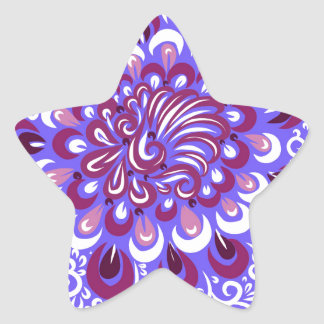 Purple haze star sticker