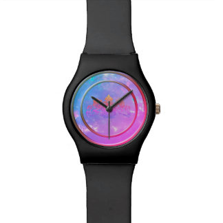 Purple Haze White Opal Dial Coat of Arms Watch