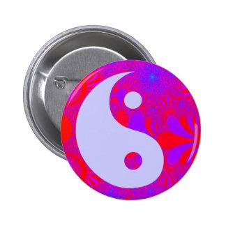 Purple Haze Yin and Yang 2 Inch Round Button