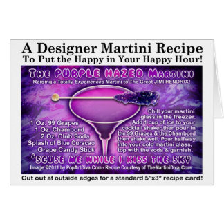 Purple Hazed (Grape) Martini Recipe Card