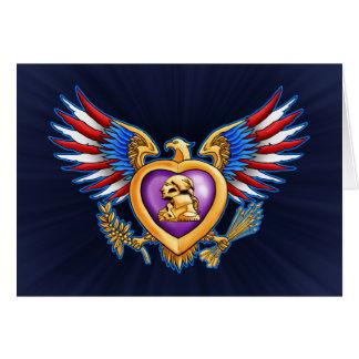 Purple Heart Design Card